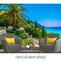 カスタム3D壁紙 1ピース 1㎡ 自然風景 ギリシャ 島 青い海 おうち時間充実 おしゃれ キッチン 寝室 リビング m03489