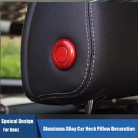 ベンツ カーインテリア 内装 ヘッドレスト ボタン ステッカー カバー 2個入 Mercedes-Benz h00545