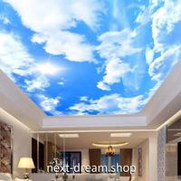 3D 壁紙 1ピース 1㎡ 自然風景 青空 太陽 天井用 インテリア 装飾 寝室 リビング 耐水 防湿 h02658
