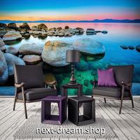 3D 壁紙 1ピース 1㎡ 自然風景 岩場 海の景色 夕焼け インテリア 装飾 寝室 リビング 耐水 防カビ h02402
