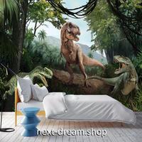 3D 壁紙 1ピース 1㎡ ジュラ紀 ジャングル 恐竜 インテリア 装飾 寝室 リビング 耐水 防湿 h02493