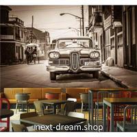3D 壁紙 1ピース 1㎡ クラシックカー 外国 セピア レトロ 街並み キッチン 寝室 リビング 客室 m03320
