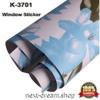 ウィンドウフィルム 不透明スモーク 122×1000cm 青い花 業務用サイズ シール インテリア 紫外線カット オフィス ガラス 窓 m03003