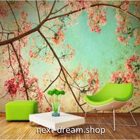 カスタム3D壁紙 1ピース 1㎡ ピンク 花 青空 癒しの風景 おうち時間充実 おしゃれ キッチン 寝室 リビング m03514