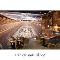 3D 壁紙 1ピース 1㎡ 道路風景 ルート66 外国 景色写真 キッチン 寝室 リビング 客室 m03322