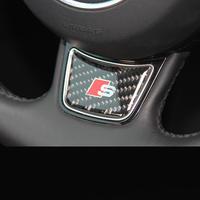 アウディ ステッカー Audi A3 A4 A1 A5 A7 Q3 カーボン Sline ステアリング デコレーション h00341