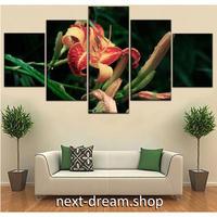 【お洒落な壁掛けアートパネル】 5点セット 花 植物 自然景色 写真 絵画 ファブリックパネル インテリア m04062