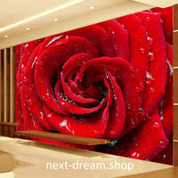 3D 壁紙 1ピース 1㎡ 薔薇 ローズ アート 防カビ 耐水 インテリア 装飾 寝室 リビング h02143