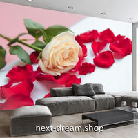3D 壁紙 1ピース 1㎡ 薔薇の花 フォト 花びら DIY リフォーム インテリア 部屋 寝室 防湿 防音 h03228