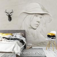 3D 壁紙 1ピース 1㎡ ヨーロッパレトロ 彫刻 女性 DIY リフォーム インテリア 部屋 寝室 防湿 防音 h03190