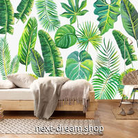3D 壁紙 1ピース 1㎡ 熱帯動植 トロピカルリーフ インテリア 部屋装飾 耐水 防湿 防音 h02918