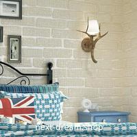 3D 壁紙 53×1000㎝ モダンレトロ レンガ DIY 不織布 カビ対策 防湿 防水 吸音 インテリア 寝室 リビング h02052