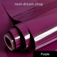 壁紙 60×500cm 無地 光沢 パープル 紫 DIY リフォーム インテリア 部屋・キッチン・家具にも 耐油 防湿 防音 h03660