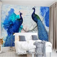 3D 壁紙 1ピース 1㎡ 青い孔雀 ピーコック インテリア装飾 寝室 リビング 客室 豪華 m03296