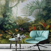 3D 壁紙 1ピース 1㎡ 熱帯雨林 植物 木 花 防カビ 耐水 おしゃれ クロス インテリア 装飾 寝室 リビング h01792
