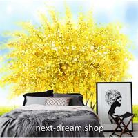 3D 壁紙 1ピース 1㎡ 壁画 塗装 水彩 黄色の木 ミモザイエロー おしゃれ キッチン 寝室 客室 m03384