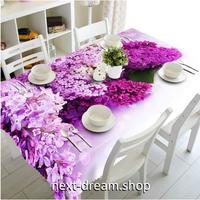 テーブルクロス 140×180cm 4人掛けテーブル用 ピンク フラワー お茶会 防水 おしゃれな食卓 汚れや傷みの防止 m04240
