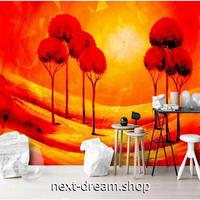 3D 壁紙 1ピース 1㎡ 北欧モダン 油絵デザイン 真っ赤 オレンジ 太陽 アート リビング 寝室 客室 m03359
