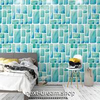 3D 壁紙 1ピース 1㎡ レンガタイルデザイン 水色 アート 可愛い おしゃれ キッチン 寝室 客室 m03366
