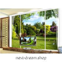3D壁紙 1ピース 1㎡ 自然風景 草原 緑 癒し インテリア 寝室 リビング ショップ 耐水 防カビ m04338