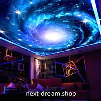 3D 壁紙 1ピース 1㎡ 宇宙景色 銀河系 星 天井用 インテリア 装飾 寝室 リビング 耐水 防湿 h02644