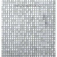 3D壁紙 30×30cm 11枚セット クリスタル ミラーガラス 銀 DIY リフォーム インテリア 部屋/浴室/トイレにも h04469