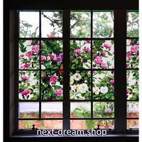 ウィンドウフィルム ガラス ステッカー 窓 100×40cm 花柄 ガーデン 浴室 会議室 オフィス 紫外線カット 眩しさ軽減 m02894