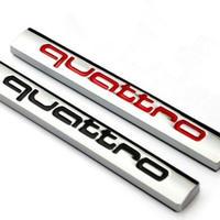 アウディ ステッカー quattro バッジ アルミ 4WD Audi A6 A5 A7 A3 A4 Q3 Q5 S4 S6 S8 TT h00379
