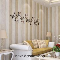3D 壁紙 53×1000㎝ シンプル 木板 DIY 不織布 カビ対策 防湿 防水 吸音 インテリア 寝室 リビング h02063