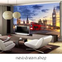 【カスタム3D壁紙】 1ピース 1m2 英国 ロンドン ブリッジ 赤バス リビング レストラン キャンバス地 クロス張替 m05396