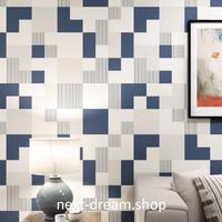 3D 壁紙 53×1000㎝ 幾何学格子 デジタル DIY 不織布 カビ対策 防湿 防水 吸音 インテリア 寝室 リビング h01975