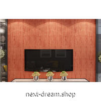 【3D壁紙】 70×70cm 厚さ5ミリ 10枚パック しっかりとした木の板デザイン 赤い木 接着剤付 高級クロスステッカー 部屋 防水 m04000