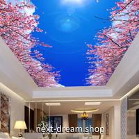3D 壁紙 1ピース 1㎡ 自然風景 青い空 桜の木 天井用 インテリア 装飾 寝室 リビング 耐水 防湿 h02697