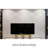 【3D壁紙】 70×70cm 厚さ5ミリ 10枚パック しっかりとした木の板デザイン 白 接着剤付 高級クロスステッカー 部屋 防水 m03993