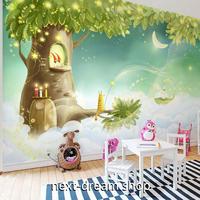 3D 壁紙 1ピース 1㎡ 子供部屋 小人の木の家 雲の上 インテリア 装飾 寝室 リビング 耐水 防湿 h02580