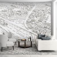 3D 壁紙 1ピース 1㎡ 立体模型 都市 ホワイト DIY リフォーム インテリア 部屋 寝室 防湿 防音 h03393