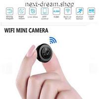 ミニカメラ WIFI ナイトビジョン ビデオ ワイヤレス 記録 ポータブル 小型カメラ 防犯用 ビジネス 会議にも m00746