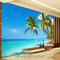 3D 壁紙 1ピース 1㎡ 自然風景 海の景色 砂浜 ビーチ ヤシの木 インテリア 装飾 寝室 リビング h02329