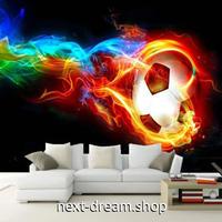 3D 壁紙 1ピース 1㎡ サッカーボール グラフィックアート DIY リフォーム インテリア 部屋 寝室 防湿 防音 h03102