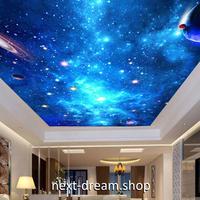 3D 壁紙 1ピース 1㎡ 宇宙景色 星空 惑星 天井用 インテリア 装飾 寝室 リビング 耐水 防湿 h02636