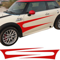 ミニクーパー ステッカー サイド ストライプ ドア スカート F55 F56 R60 R61 R50 R52 R53 R56 R57 R57 R58 R59 h00159