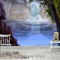 3D 壁紙 1ピース 1㎡ 自然風景 絵画デザイン 滝 インテリア 装飾 寝室 リビング 耐水 防カビ h02368