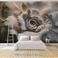 カスタム3D壁紙 立体感 白 薔薇 彫刻風 8Dエンボス素材 部屋 リビング 寝室 ショップ ウォールペーパー m05894
