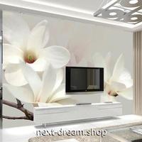 3D 壁紙 1ピース 1㎡ モダン 白い花 ホワイト インテリア 部屋装飾 耐水 防湿 防音 h02828