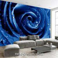 3D 壁紙 1ピース 1㎡ 一面プリント 薔薇 ブルーローズ 赤 青 インテリア 装飾 寝室 リビング h02288