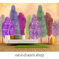 3D 壁紙 1ピース 1㎡ 装飾画 森 アート カラフル 紫 星の木 リビング 寝室 客室 m03361