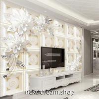 3D 壁紙 1ピース 1㎡ 立体アート ヨーロッパ 花 DIY リフォーム インテリア 部屋 寝室 防湿 防音 h03277