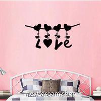 【ウォールステッカー】壁紙 DIY 部屋装飾 寝室 リビング インテリア 45×75cm ロゴ 黒 ブラック LOVE ハート m02208