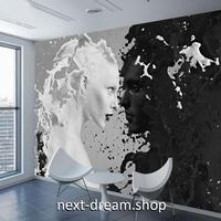 3D 壁紙 1ピース 1㎡ アート 白黒 モノクロ DIY リフォーム インテリア 部屋 寝室 防湿 防音 h03146