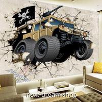 3D 壁紙 1ピース 1㎡ ウォールアート 子供部屋 四駆自動車 インテリア 装飾 寝室 リビング 耐水 防湿 h02497